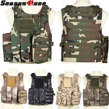 Outdoor Tactical Airsoft Molle Carrier Strike Combat Vest Hunting Sports Wargame