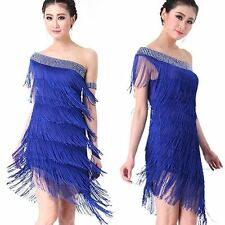 Night Club Cocktail Party Dress Latin Salsa Ballroom Dance Sequin Fringe Dress