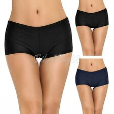 Women Summer Plain Swim Shorts Bikini Swimwear Boy Style Short Brief Bottoms