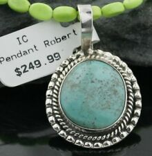 Delicate $430Tag Navajo .925 Sterling Silver Turquoise Native American Necklace