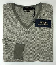 NWT $115 Polo Ralph Lauren Grey Sweater LS Mens Size  XL 100% Pima Cotton NEW