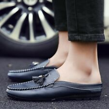 Mens Leather Fringes Slip-On Casual Shoes Flats Loafers Driving Shoes Moccasin