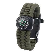 Outdoor Survival Paracord Rope Bracelet with Fire Starter Stainless Scraper