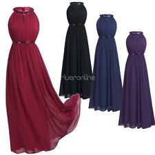 Women Party Halter Dresses Chiffon Evening Prom Gown Bridesmaid Party Formal New