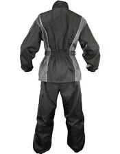 Xelement Ladies 2 Piece Gray and Black Motorcycle Rainsuit