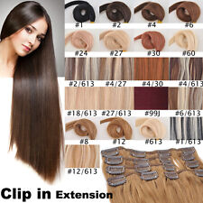 15inch 70g 7pcs Hair Set 100% Remy Clip In Human Hair Extensions