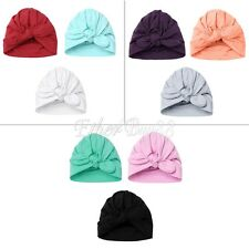 3x Newborn Baby Infant Girl Toddler Comfy Rabbit Bowknot Hospital Cap Beanie Hat