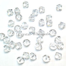 5mm Crystal (001) clear Genuine Swarovski crystal 5328 / 5301 Loose Bicone Beads