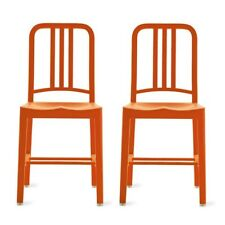 AUTHENTIC Emeco 111 Navy Chair® - SET OF 2 Persimmon - Design Within Reach DWR