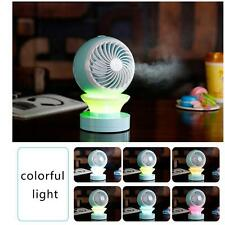 LED Mini Fans Table USB Rechargeable Fan Humidifier Air Conditioner Air Coo SU