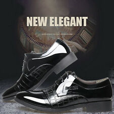 New Fashion Mens Crocodile Business Dress Pointed Leather Shoes Casual Shoes