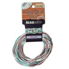 Satin Rattail Cord 2mm Serenity Mix 4 Colors - 3 Yds Ea