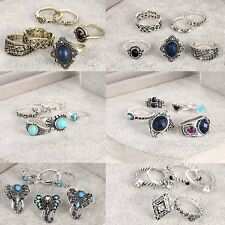 6 Pcs/set Women Fashion Jewelry Knuckle Rings Vintage Silver Plated Party Gifts