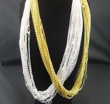 Fashion Silver golden Plated Snake Chain With Lobster claw Clasp Necklace 16.5''