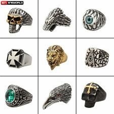 Stainless Steel Gothic Mens Rings Fashion Vintage Ring Punk Biker Jewelry Gift