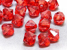 6mm 200/400/600/800/1000pcs DARK RED FACETED ACRYLIC PLASTIC BICONE BEADS TY2990