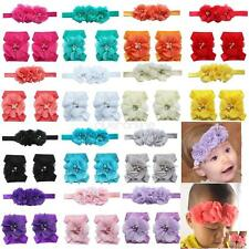 Baby Girls Infant Headband Flower Chiffon Elastic Hair Band Foot Accessories New
