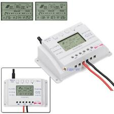 LCD 10A/20A 12V/24V MPPT Solar Panel Regulator Charge Controller Three Timer BA