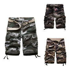 Mens Oversized Camo Military Cargo Combat Pants Casual Shorts Outdoor Work 30-42