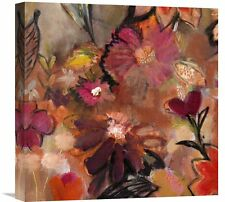 'Garden of a Joyful Day BL' Framed Oil Painting Print on Wrapped Canvas