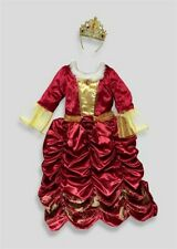 NEW Girls Disney Princess Belle Red Fancy Dress Up Costume Age 6 - 7 Years
