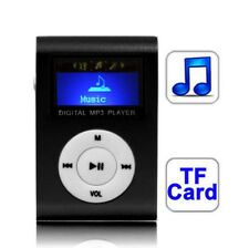 TF Micro SD Card Slot MP3 Player with LCD Screen Metal Clip 4 Colours