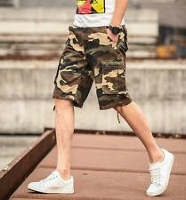 HOT mens causal cotton camouflage short pants summer pockets trousers shorts I79