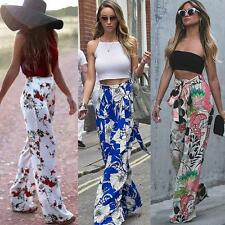 Trendy Women Wide Leg Stretch High Waist Long Pants Palazzo Loose Trousers