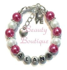 Personalized LOVE Charm Bracelet Hand Made Birthday Gift Any Color Any Name