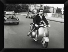 East Urban Home 'On Motorscooter' Framed Photographic Print