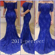 Royal Blue Evening Gown Off Shoulder Mermaid Fashion Mother Of The Bride Dress