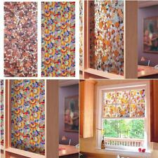 New 3D Static Cling Stained Glass Paper Frosted Privacy Window Film Decorative
