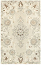 Sphinx Beige Petals Vines Leaves Curves Contemporary Area Rug Floral 93000