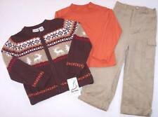 NWT b.t. kids Boys 3 Pc Reindeer Sweater Christmas Holiday Set, 5 or 6, $46
