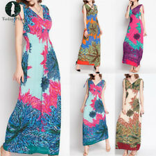 New Women Summer Long Maxi BOHO Evening Party Dress Floral Beach Dress Sundress