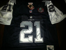 Brand New! Dallas Cowboys #21 Deion Sanders Throwback HOF Patch Jersey Mens 3XL