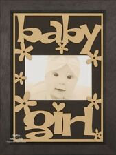 "BabyRice New Baby Girl Gift 1st First Picture Frame 6x4"" Photo Laser Cut Design"