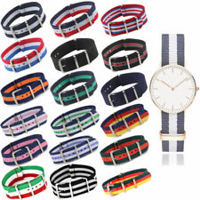 Infantry Military Army Fabric Buckle Unisex Nylon Wrist Watch Band Strap 18-22mm