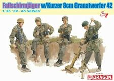 Dragon 6373 1:35 Fallschirmjager 8cm GrW42 Mortar Gun with 4 Crew