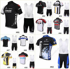 HOT Style Bicycle Team Short Sleeve Jersey Bib Shorts Sport Cycling Clothing Set