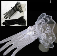 Lace Fishnet Wedding Bridal Gloves Lace Fingered Glove For Party WeddingLAUS
