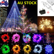 10M 100 LED Xmas Tree Fairy String Lights Waterproof Outdoor Party Lamp AU Plug