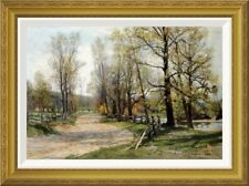 Global Gallery 'The Country Lane' by Hugh Bolton Jones Framed Painting Print