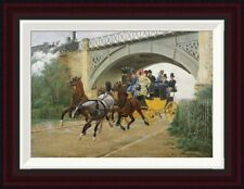 Global Gallery Startled By Steam by Jean Richard Goubie Framed Painting Print