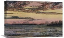 'Sunset Over the Ice' by Frederic E. Church Painting Print on Wrapped Canvas