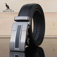 Fashion men's belts real leather straps automatic buckles Men's Accessories