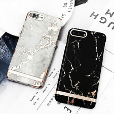 Luxury Rose Gold Marble texture Hard Plastic Phone Case for iphone 6 6s 7 plus