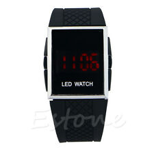 Men Women Luxury Unisex Sport LED Digital Date Lady Silicone Watch Wristwatch
