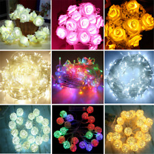 Romantic LED String Lights Home Garden Fairy Lamp Party Decor Warm White New