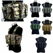 New Cool Outdoor Tactical 6 Pouches Magazine Carry Chest Rig Vest Six Colors